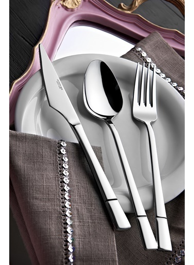 Yetkin Alya 36 Parça Çatal Bıçak Seti Renkli